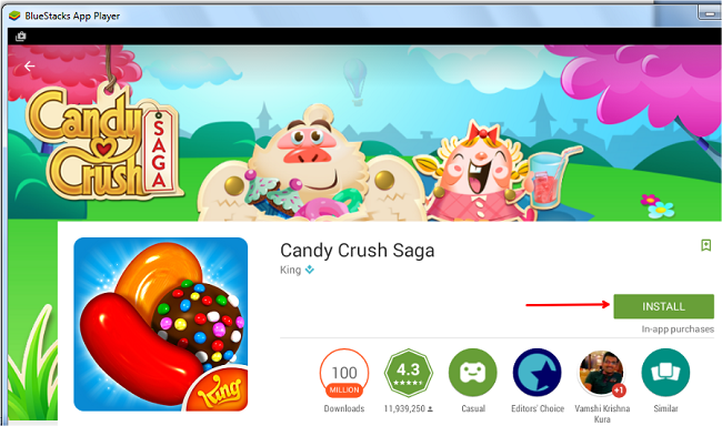 candy crush saga for laptop
