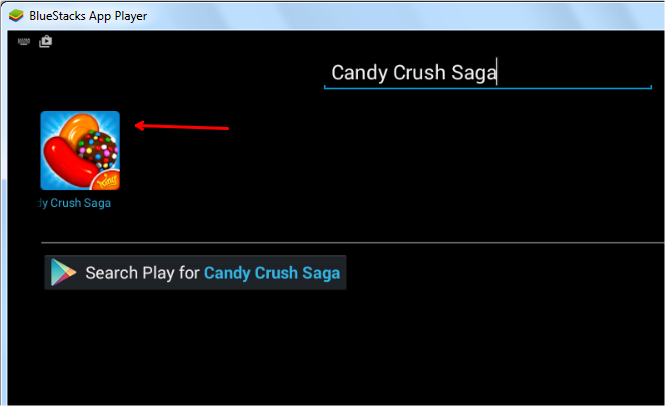 candy crush saga in bluestacks