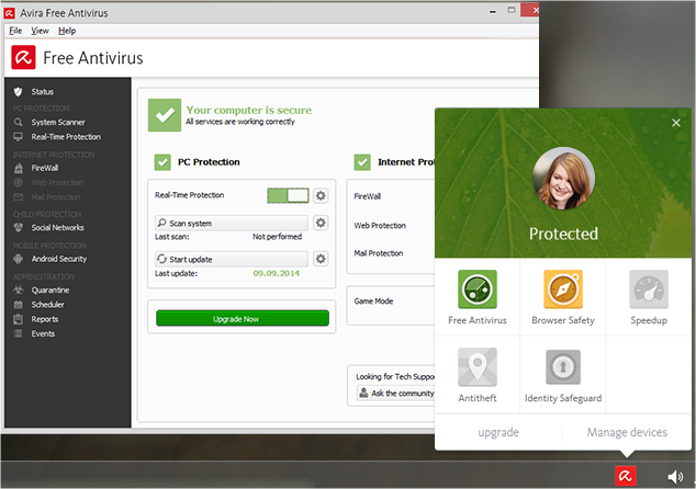 completely free antivirus for windows 10