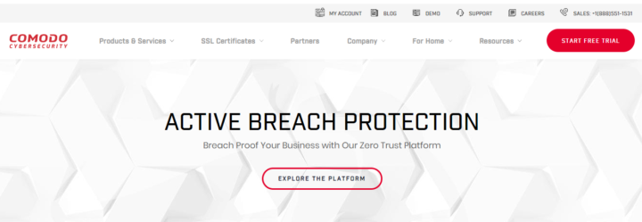 Official Website of COMODO Cyber Security