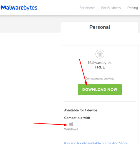 download malware bytes for free on Windows 10 PC