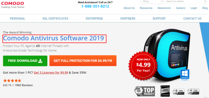 Comodo Antivirus Software 2019
