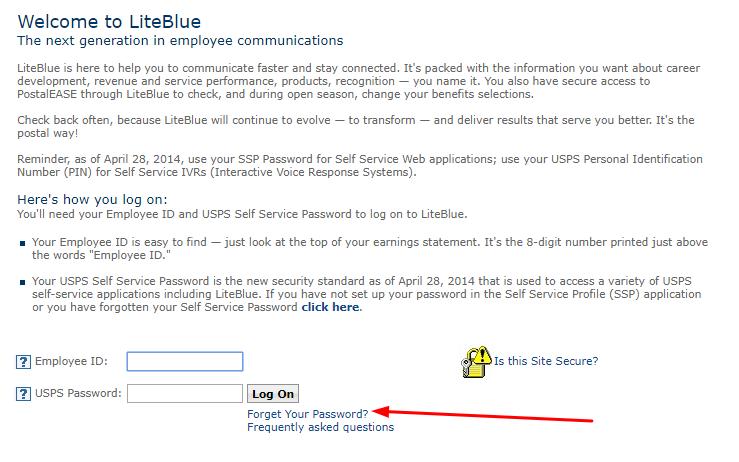 Liteblue employee account registration and login