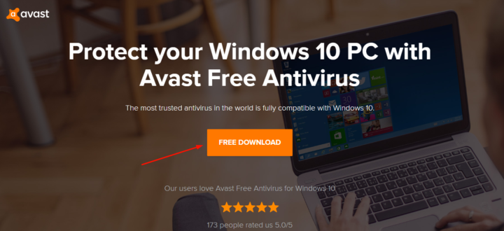 Disable Avast Antivirus in Windows 10